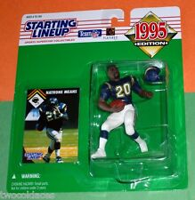 1995 NATRONE MEANS San Diego Chargers Rookie - low s/h - sole Starting Lineup