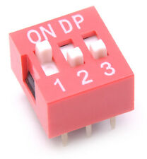 5x DIP Switch 3 Positions Sliding Toggle Switches Top Actuated Pack Kit USA