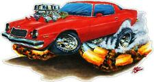 """1976 - 1979 CHEVY CAMARO 24""""  Fire Breather Vinyl Decal Wall Graphic Mural"""