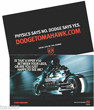 Dodge TOMAHAWK Concept V10 VIPER Motorcycle Photo Card: FREE SHIP!
