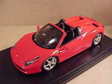 Fujimi 1/43 Ferrari 458 Open Top Spider, Red  #FJM124320