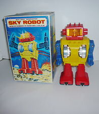 VINTAGE BATTERY OPERATED SKY ROBOT JAPAN W/BOX
