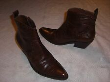 GIANNI BINI WESTERN ANKLE BOOTS WOMENS BROWN SIZE 7 M EUC