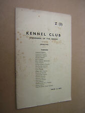 KENNEL CLUB STANDARDS OF THE BREEDS. SPORTING TERRIERS. 1950. DOGS. 32 PAGES