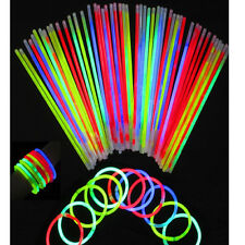 "200  8"" Glowsticks Light Stick Glow Bracelets 200 Sticks & Connectors Included"