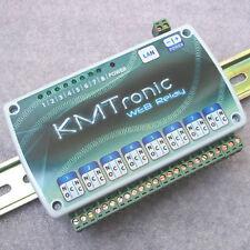 KMTronic LAN IP 8 Canali Relè Scheda Internet Domotica Modulo WEB BOX, DIN rail