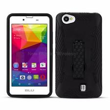 For BLU Neo X (N070U) Heavy Duty Kickstand Case Cover + Screen Protector