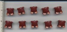LEGO x 10 Dark Red Minifig, Armor Breastplate with Leg Protection castle knight