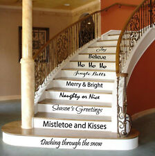 Christmas Wall Decal Quote Family Stair Riser Vinyl Sticker Stairs Decor KY101