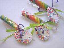 8 Twisty Unicorn Rainbow Lollipops Girl's Toddler Boutique Birthday Party Candy