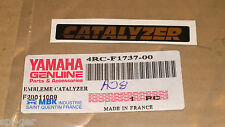 CW 50 RS BW's New Genuine Yamaha CATALYZER Body Panel Decal Emblem 4RC-F1737-00