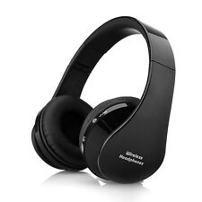 Wireless Bluetooth Foldable Headset Stereo Headphone for iPhone Samsung (Black)