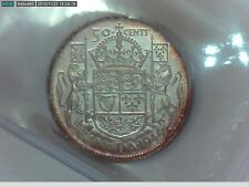 1944 Canadian Silver Half Dollar(50 cents) Far 4 ICCS Certified MS-63