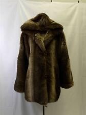 HUGO BUSCATI  Womens Faux FUR COAT HOODED SIZE XS