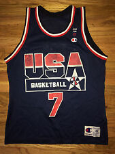 SHAWN KEMP Vtg 90s USA Dream Team 2 CHAMPION basketball Jersey Olympic Sz 44