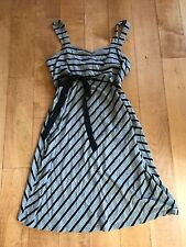 Oh Baby by MOTHERHOOD Maternity DRESS. Sz. Small. Gray & Black Striped. NICE!