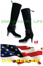 VERYCOOL 1/6 female black fashion high-heel boots flower black widow phicen USA❶