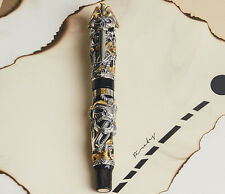 Montegrappa LE The Pirates Sterling Silver & Yellow Gold Fountain Pen