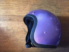 VTG Custom Paint Motorcycle Helmet Bell R-T, RT Purple 1975 Sz 7 3/8