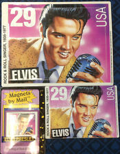 Set of 3 Different Elvis Presley Puzzles & Elvis Magnet Post Card Free Shipping