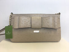 Kate Spade New York Charm City Ostrich Presley Handbag Purse in Beige/Sidewalk