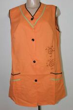 BLOUSE ORANGE TRAVAIL NYLON OVERHALL TABLIER APRON KITTEL BLUSE 42