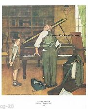 "NORMAN ROCKWELL PIANO MAN print ""THE PIANO TUNER"" pianist musical 11x15"""