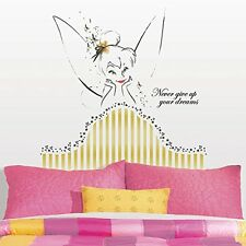 Disney Tinkerbell Headboard Wall Decals Gold Tinker Bell Room Decor STickers