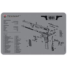 1911 COLT GOVERNMENT MODEL .45 SELF LOADING PISTOL GUNSMITH CLEANING TEKMAT GREY
