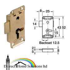 HAFELE Lever rim lock, for lever bit keys, 12.5 mm back set