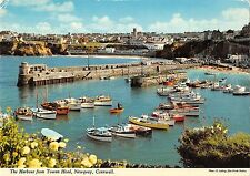 BR82313 the harbour from towan head newquay cornwall ship bateaux uk