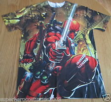 Deadpool Wade Wilson Men's T-Shirt Tee Shirt Marvel Comics NWT Size MEDIUM