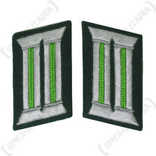 German Army Badges JAGER GREEN Officer Collar Tabs WW2 Repro Jaeger Light Green