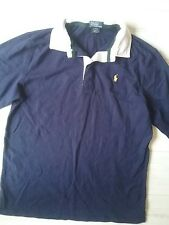boys RALPH LAUREN navy long sleeve RUGBY  style top Age 14 15 16