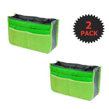 2 X Large Purse Organizer Insert Pack Women Travel Set Handbag Liner Tidy Dual