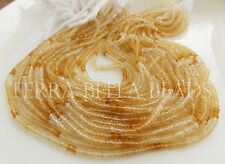 "13"" shaded CITRINE faceted gem stone rondelle beads 3mm - 3.5mm yellow ombre"