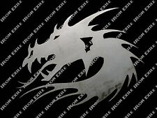 Dragon Head Chinese Oriental Medieval Tribal Metal Wall Art Decor Plasma Cut out