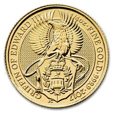 1/4 oz 999 Gold Goldmünze 25 Pfund The Queens Beasts the Griffin Adler 2017