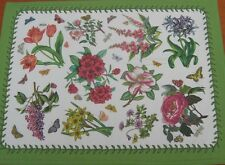 BOTANIC GARDEN BOX 4 COTTON TEXTILE CHINTZ PLACEMATS TABLE BY PIMPERNEL