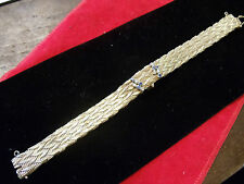 Art deco 14k  y/gold bracelet diamond/sapphire 17 jewlel ladies Emperor watch