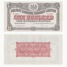 Belfast Banking Company Limited £100 handsigned - BYB ref: NI.306d - VF+.