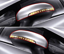 OEM LED Signal Lamp + Side Mirror Cover BEG Red LH RH 4p For 2012-2016 Kia Rio