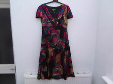 GORGEOUS SILK DRESS BY MONSOON SIZE 10 WITH GOLD THREAD DETAIL