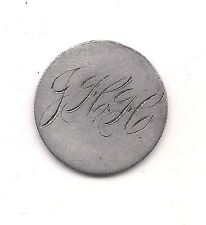 "1890 Seated Liberty Silver Dime Love Token Hand Engraved ""JHH"""