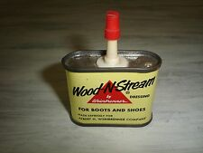 Vintage WOOD-N-STREAM DRESSING FOR BOOTS & SHOES Collectible Tin - WEINBRENNER