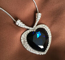 Necklace Titanic Heart of the Oceans with SWAROVSKI ELEMENTS Crystal 18K