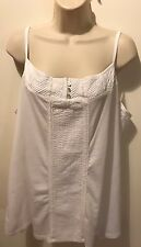 Gorgeous Monsoon Details lace top in white, size 22