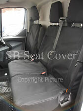 TO FIT A FORD TRANSIT CONNECT VAN, 2016, SEAT COVERS, BLACK  WATERPROOF