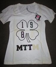 Married to the Mob T Shirt 4 Leaf Clover 1982 Logo Womens Small, White/Multi