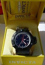 INVICTA SUB-AQUA NOMA III GMT SWISS QUARTZ BLACK DIAL MENS WATCH 13919 NIB